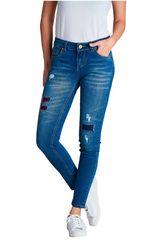 Octodenim Azul de Mujer modelo emma Casual Pantalones Jeans