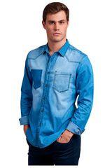 Octodenim Celeste de Hombre modelo elias celeste Camisas Casual