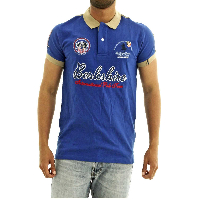 Polo de Hombre BERKSHIRE POLO CLUB Azul polo-159-1534124