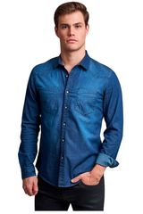 Octodenim Azul de Hombre modelo elias azul Camisas Casual