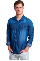 Octodenim Azul de Hombre modelo tomás azul Camisas Casual