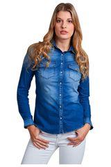 Octodenim Azul de Mujer modelo briana azul Blusa Casual