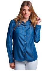 Octodenim Azul de Mujer modelo dania azul Casual Blusa