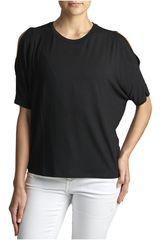 Octodenim Negro de Mujer modelo isabella Casual Polos