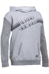 Under Armour Gris de Jovencita modelo Favorite Fleece Hoody Poleras Polos
