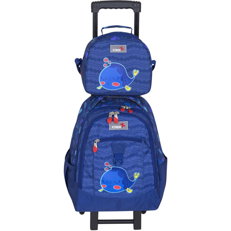 Mochila de Niño Xtrem Azul backpack with wheels cartoon fish run 731