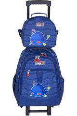 Mochila de Niño Xtrem backpack with wheels cartoon fish run 731 Azul
