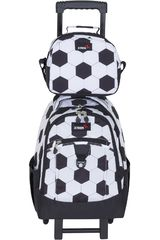 Mochila de Niño Xtrem backpack with wheels goal run 731 Blanco / negro