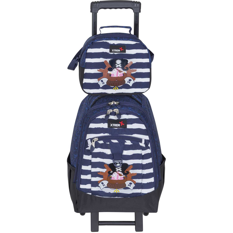Mochila de Niño Xtrem Azul / blanco backpack with wheels captain pirate run 731