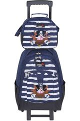 Mochila de Niño Xtrem backpack with wheels captain pirate run 731 Azul / blanco