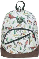 Xtrem Blanco / verde de Niña modelo backpack birds blossom boomerang 809 Mochilas