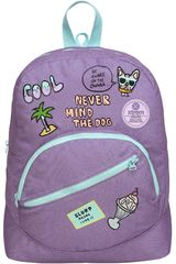 Xtrem Lila de Niña modelo backpack patches world boomerang 809 Mochilas