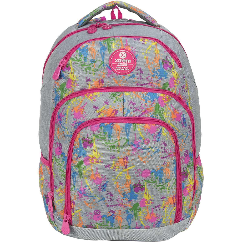 Mochila de Niña Xtrem Gris / fucsia backpack comet painted soul 811