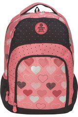 Xtrem Coral / negro de Niña modelo backpack metallic hearts soul 811 Mochilas