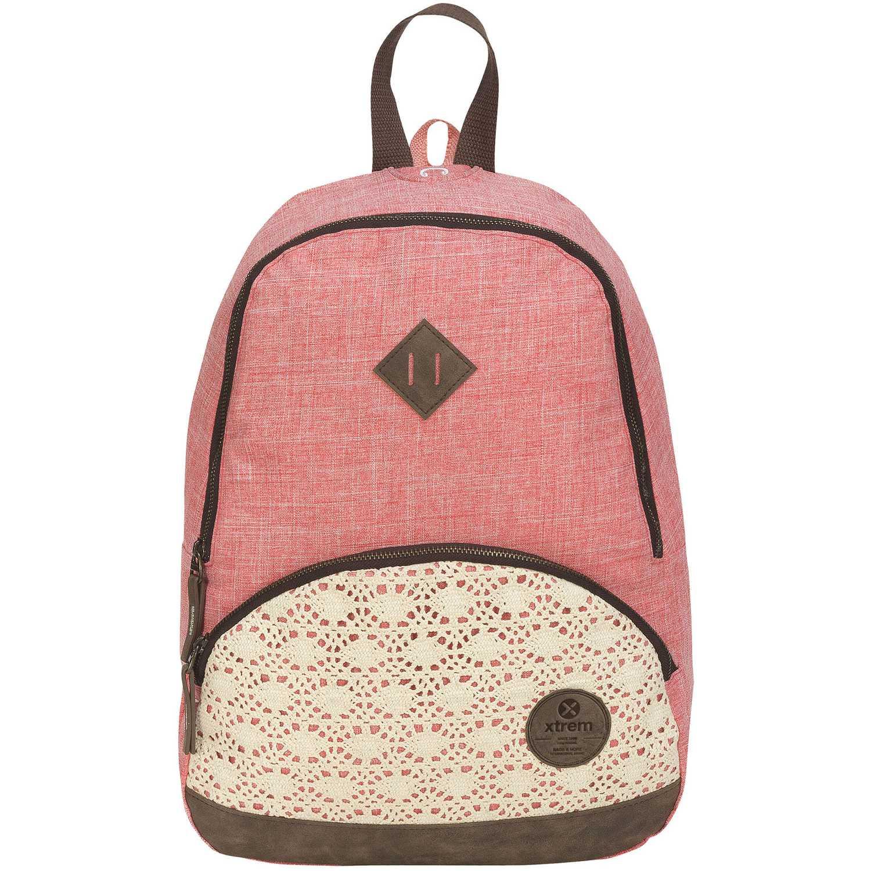 Mochila de Niña Xtrem Coral backpack crochet love garden 812