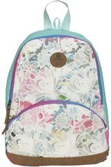 Xtrem Blanco / turquesa de Niña modelo backpack flower jungle garden 812 Mochilas
