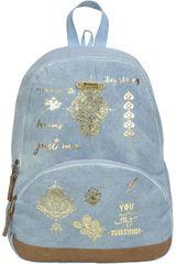 Mochila de Mujer Xtrem Celeste backpack tattoo shine garden 812