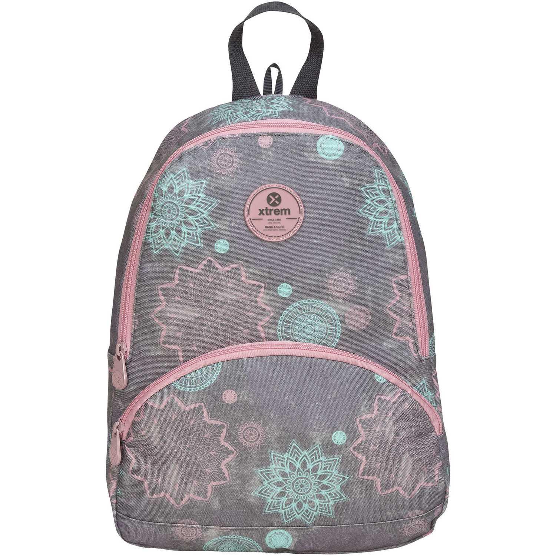 Mochila de Niña Xtrem Gris / rosado backpack mandalas garden 812