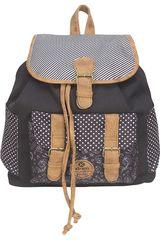 Xtrem Negro /gris de Niña modelo backpack black doodle spring 813 Mochilas