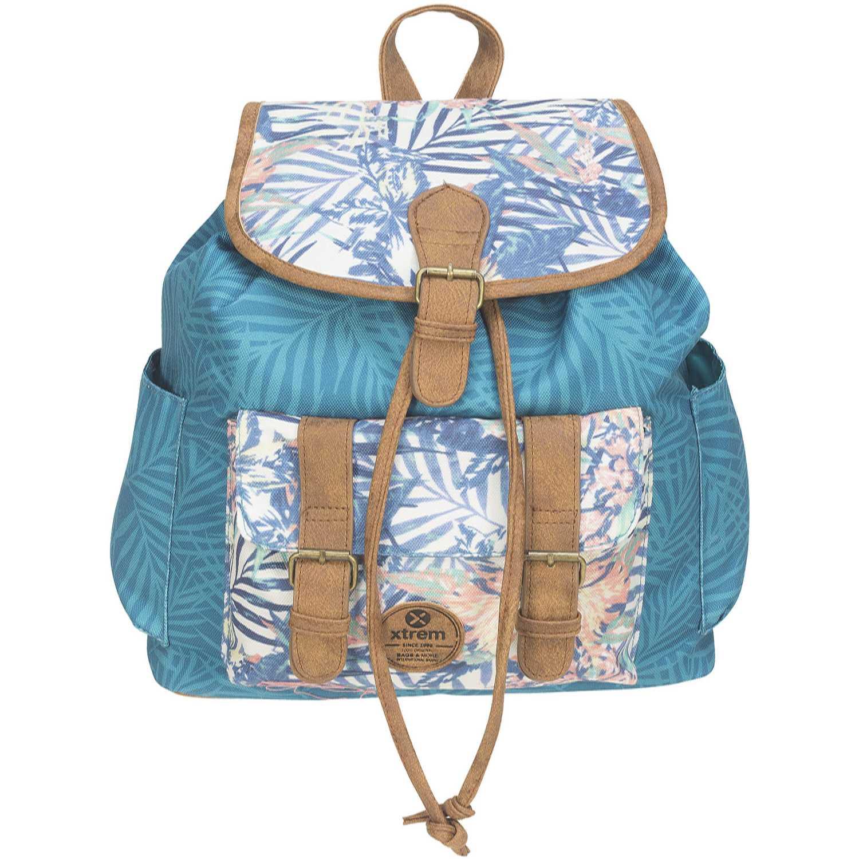 Mochila de Mujer Xtrem Marron/celeste backpack honolulu spring 813