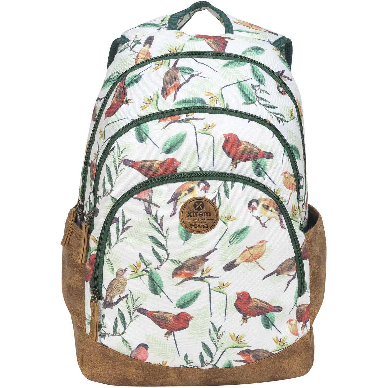 Mochila de Niña Xtrem Blanco / verde backpack birds blossom victory 814