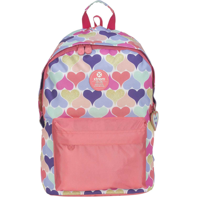 Mochila de Niña Xtrem Rosado backpack continue hearts joy 820