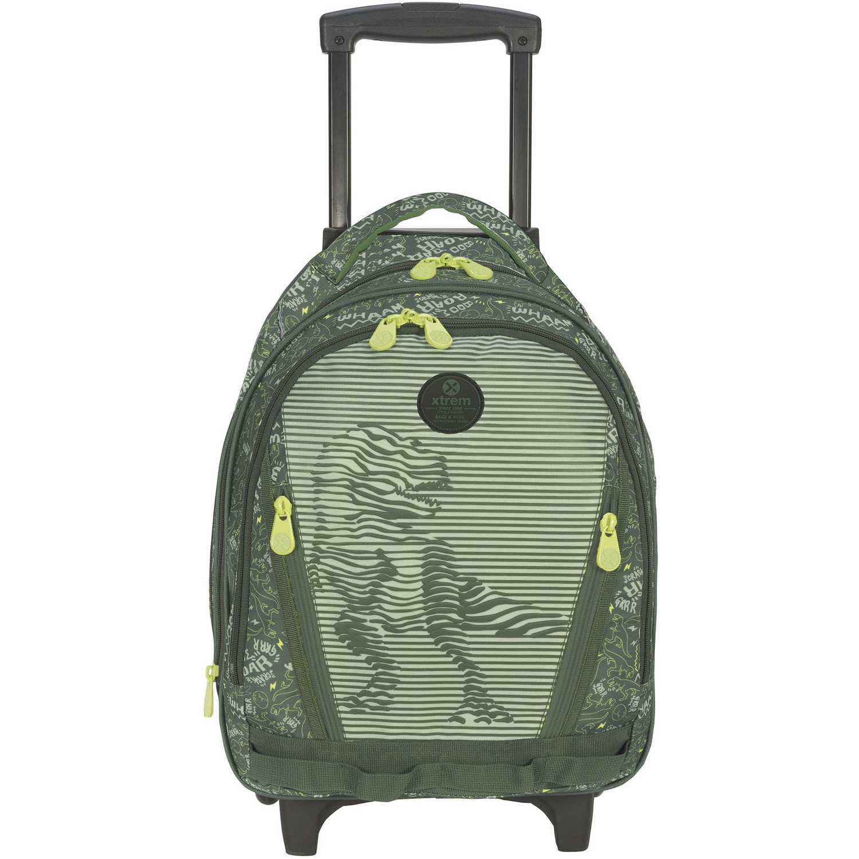 Mochila con ruedas de Niño Xtrem Verde backpack with wheels dino life cross 830