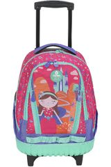 Xtrem Fucsia de Niña modelo backpack with wheels princess castle cross 830 Mochilas