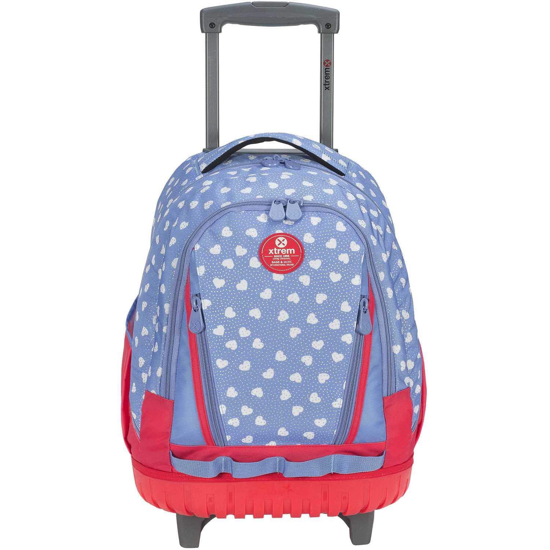Mochila con ruedas de Mujer Xtrem Celeste backpack with wheels sweethearts cross 830