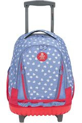 Xtrem Celeste de Niña modelo backpack with wheels sweethearts cross 830 Mochilas