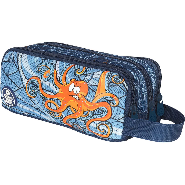 Cartuchera de Niño Xtrem Azul / naranja pencil box under the sea university 840
