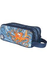 Cartuchera de Niño Xtrem Azul / naranja pencil box under the sea university 840