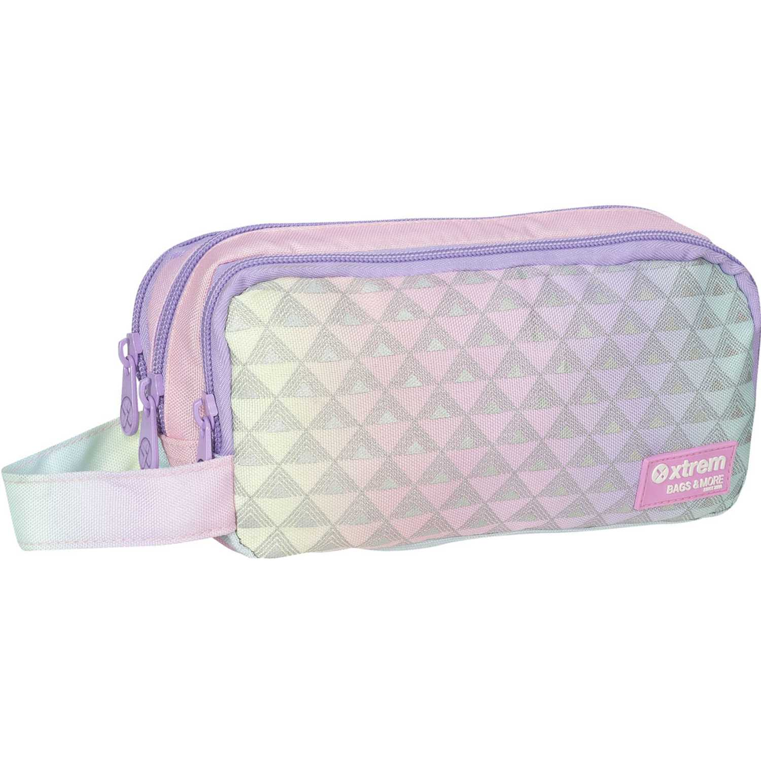 Cartuchera de Niña Xtrem Lila pencil box neon faded university 840