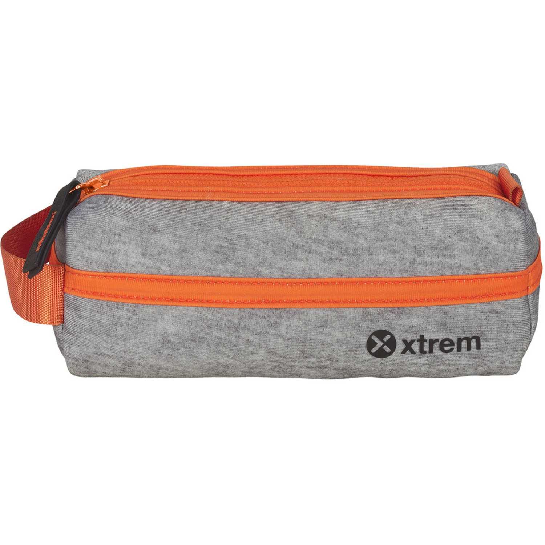 Cartuchera de Niño Xtrem Gris / naranja pencil box melange/orange school 842