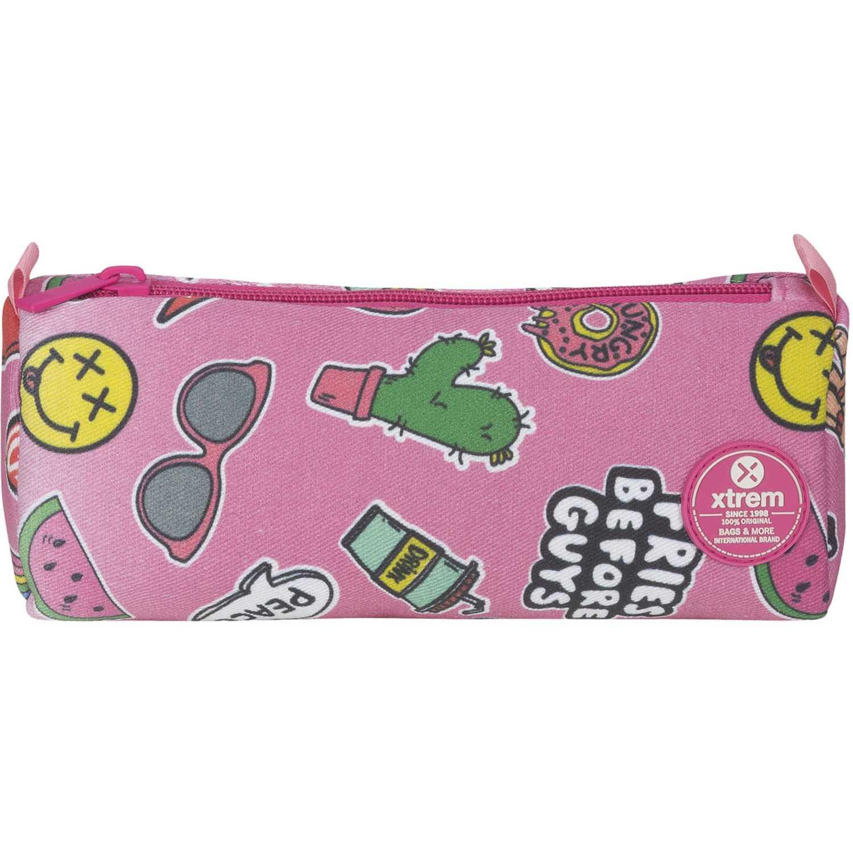 Cartuchera de Niña Xtrem Rosado pencil box pink patches crush 843