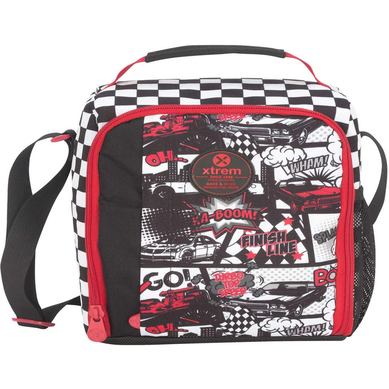 Lonchera de Niño Xtrem Rojo / negro lunch bag car race lunch 844