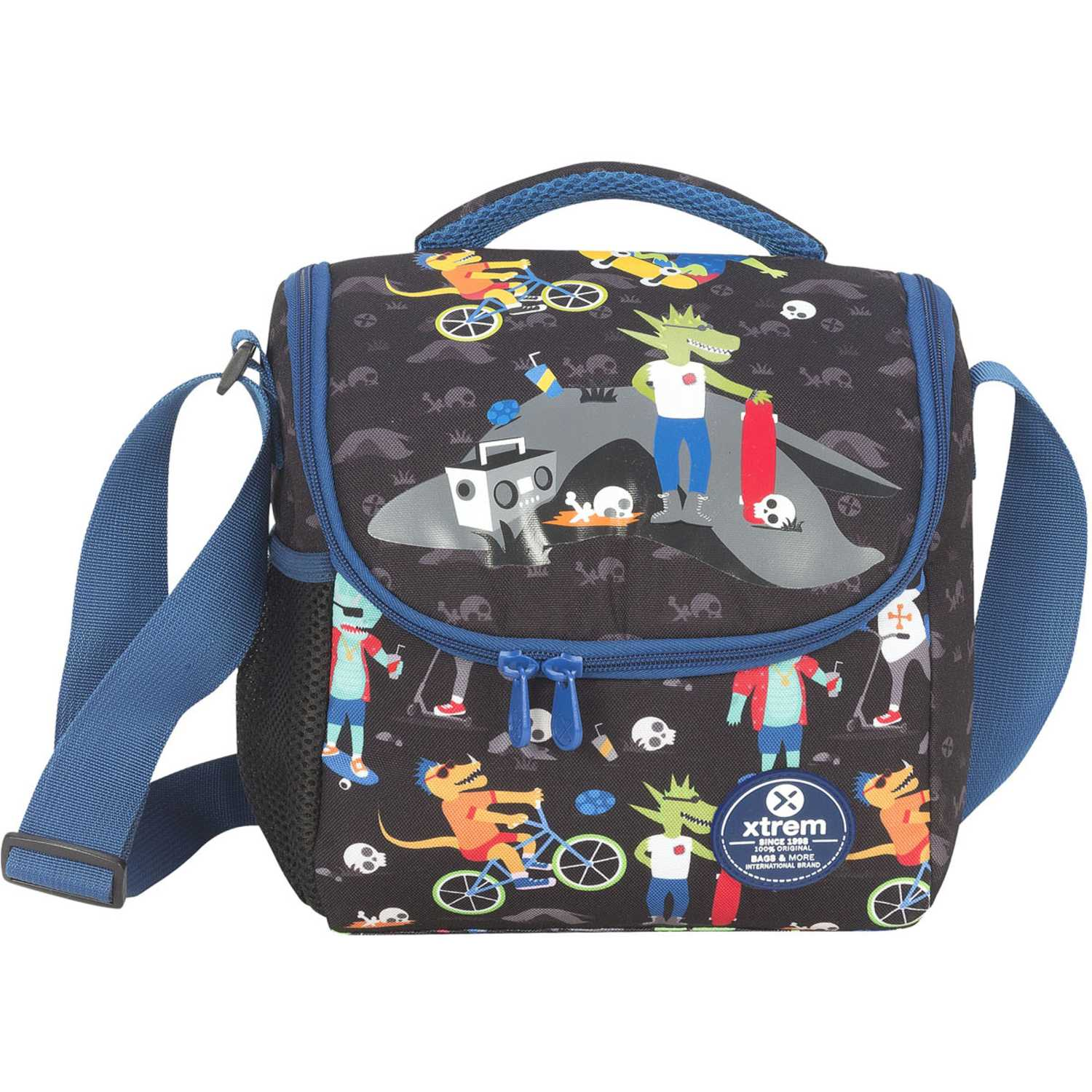 Lonchera de Niño Xtrem Azul / negro lunch bag dino skate break 846