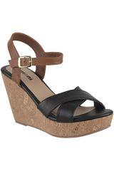 Limoni - Cuero Negro de Mujer modelo SPW-1018103 Sandalias Cuña Plataformas