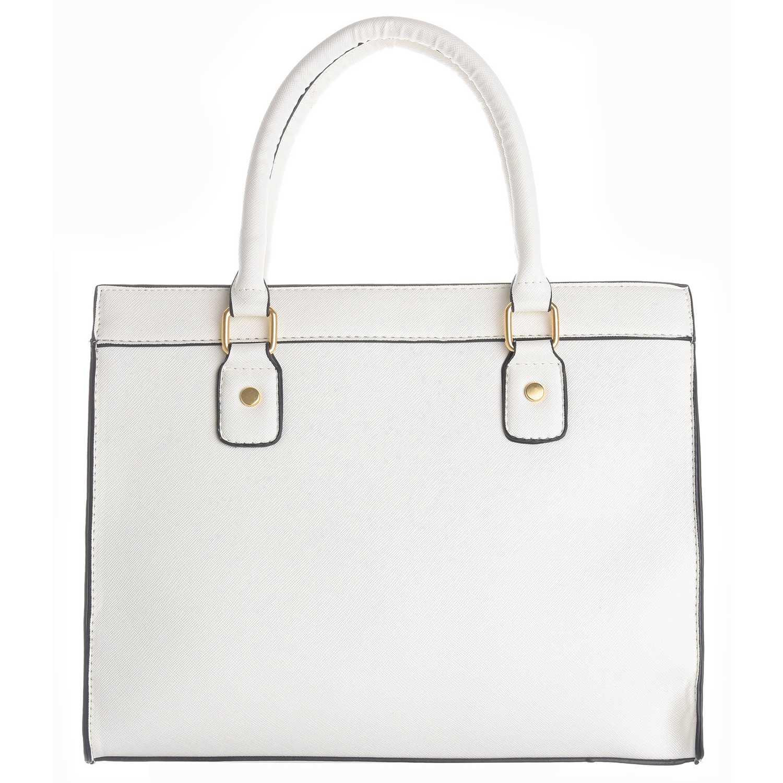 Cartera Casual de Mujer Platanitos Blanco 012