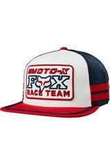 Fox Blanco / rojo de Hombre modelo intercept snapback hat Gorros
