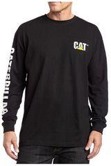 CAT Negro de Hombre modelo trademark banner l/s tee Casual Poleras