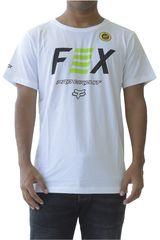 Fox Blanco / verde de Hombre modelo fox pro circuit Deportivo Polos