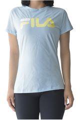 Fila Celeste / amarillo de Mujer modelo women t-shirt letter new Polos Deportivo