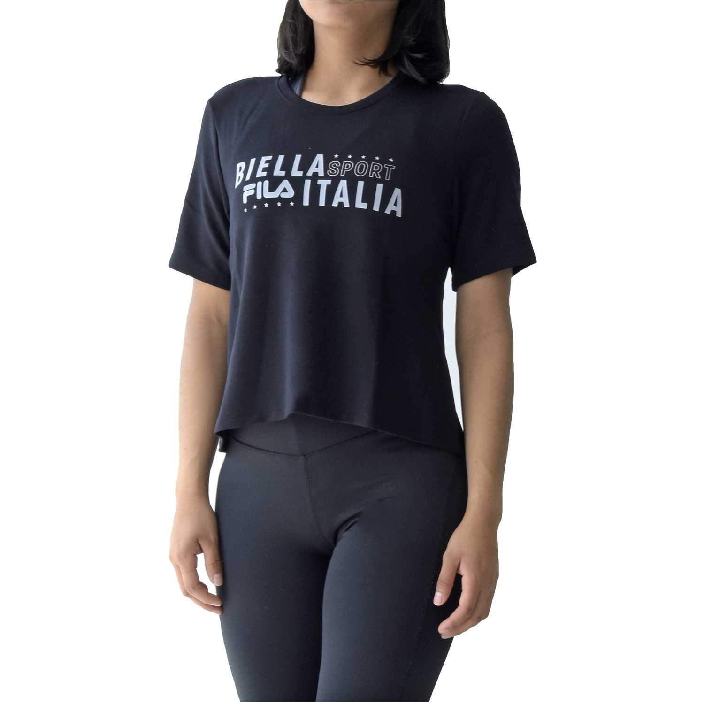 Polo de Mujer Fila Negro / blanco women blouse biella