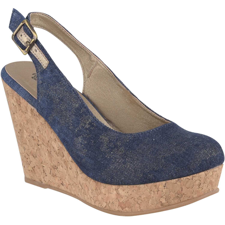 Calzado de Mujer Platanitos Azul cpw 995