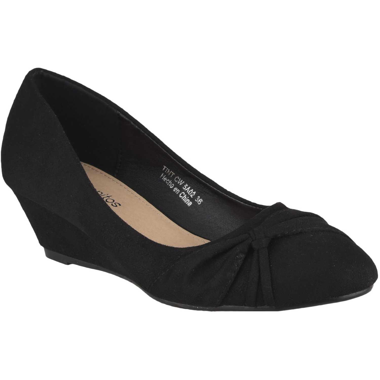 Calzado de Mujer Platanitos Negro cw 5a02