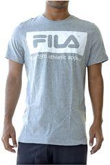 Fila Gris / blanco de Hombre modelo men t-shirt mattia Polos Deportivo