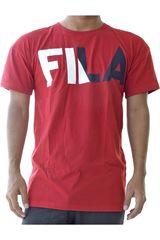 Fila Rojo / negro de Hombre modelo men t-shirt new logo Deportivo Polos