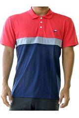 Fila Rojo / azul de Hombre modelo men polo shirt block melange ii Polos Deportivo