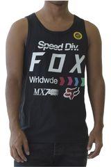 Fox Negro / blanco de Hombre modelo dividend muscle tank Bividis Deportivo